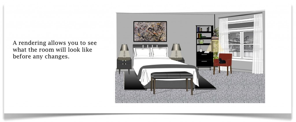 black bedroom rendering