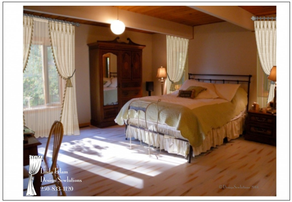 French Bedroom With Drapes Rendering