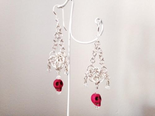 celtic flower dangle earrings
