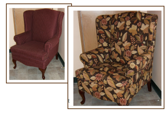 victorian slipcover wing chair