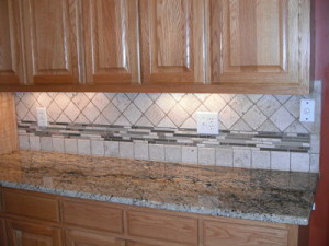 Stacked Glass Backsplash Can Date-Stamp Your Kitchen